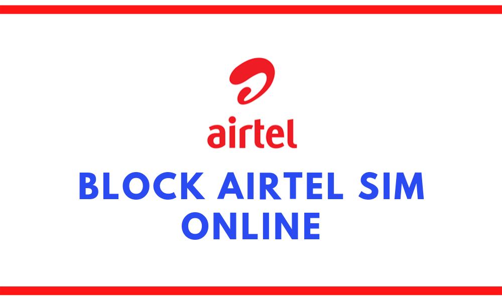 block airtel sim online