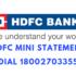 hdfc mini statement