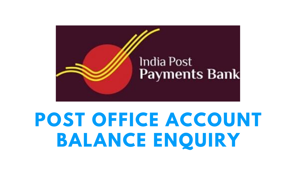 post office account balance enquiry