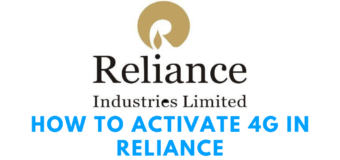 How to Activate 4G in Reliance: Steps
