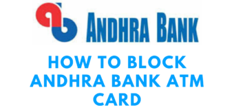 How  to  Block Andhra Bank ATM Card