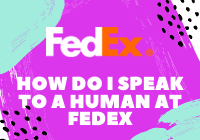 How do I Speak to a Human at Fedex