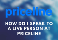 How do I speak to a live person at Priceline
