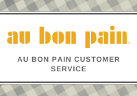 au bon pain customer service