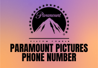 paramount pictures phone number
