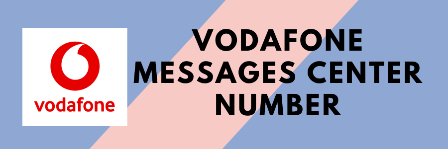vodafone sms center number
