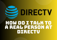 how do i talk to a real person at directv