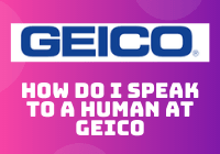how do i speak to a human at geico