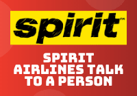 spirit airlines talk to a person