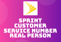 sprint customer service number real person