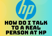 how do i talk to a real person at hp