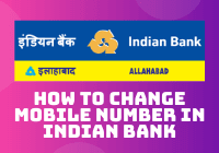 How to Change Mobile Number in Indian Bank