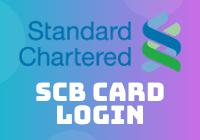 SCB Card Login
