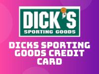dicks sporting goods credit card