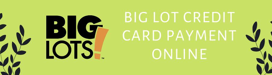Big Lots Credit Card