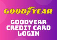 goodyear credit card login