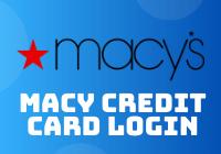 macy credit card login
